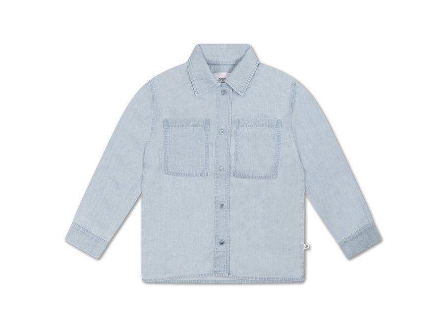 classic shirt light washed blue