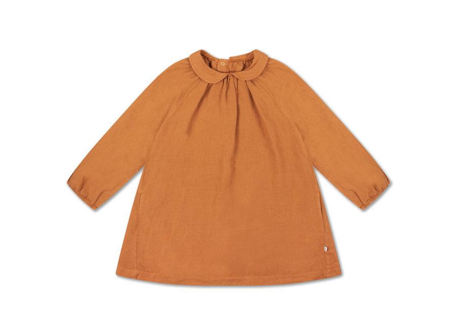 round collar dress warm hazel