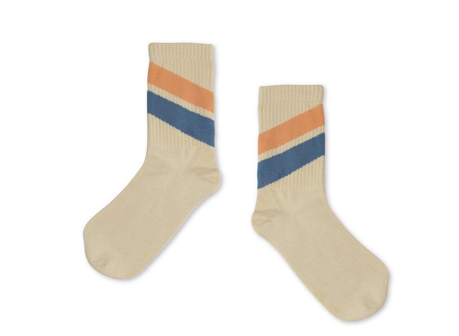socks vintage white diagonal