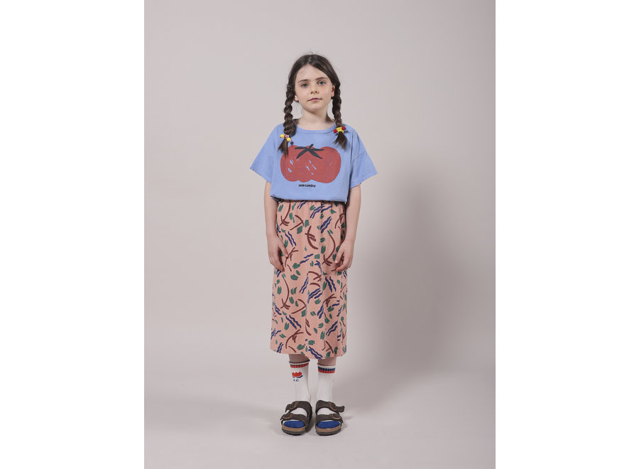 Strokes All Over Jersey Midi Skirt KID