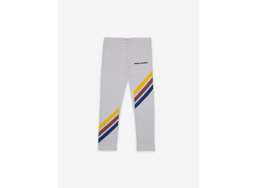 Crosswise Stripes Grey Leggings KID