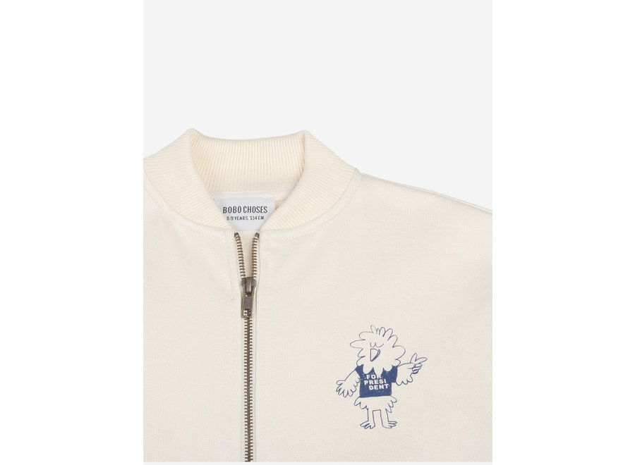 Bird Says Yes Zipped Sweatshirt KID