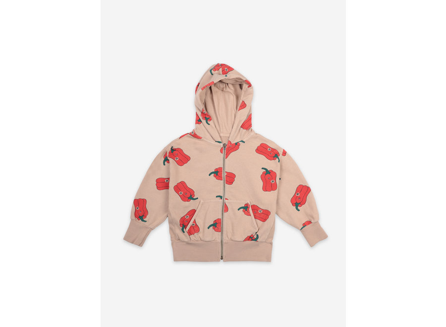 Vote For Pepper All Over Zipped Hoodie KID