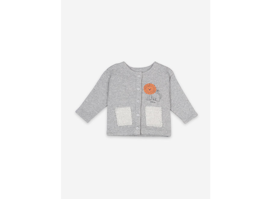 Pet A Lion Buttoned Sweatshirt BABY