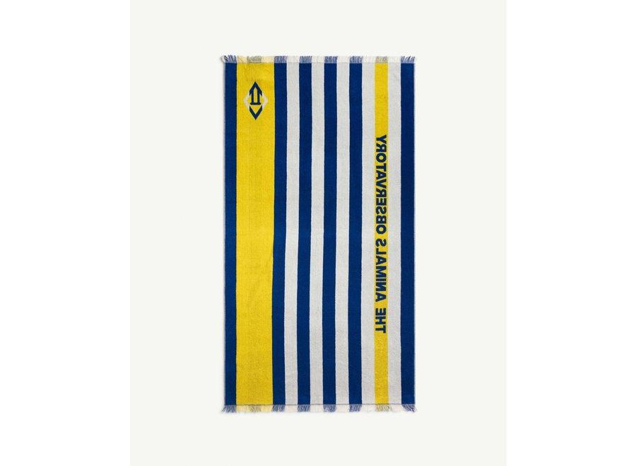 Towel Raw White-Blue