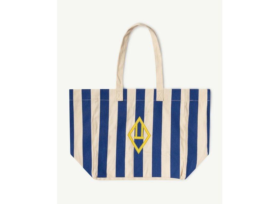 Twill Tote Bag  White Stripes