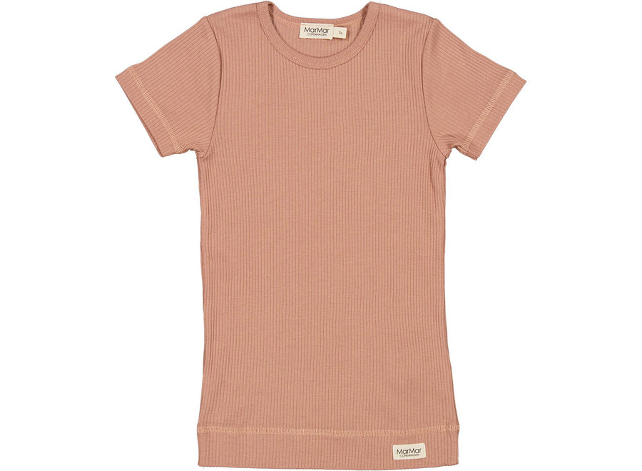 Plain Tee SS Modal T-shirt Rose Brown