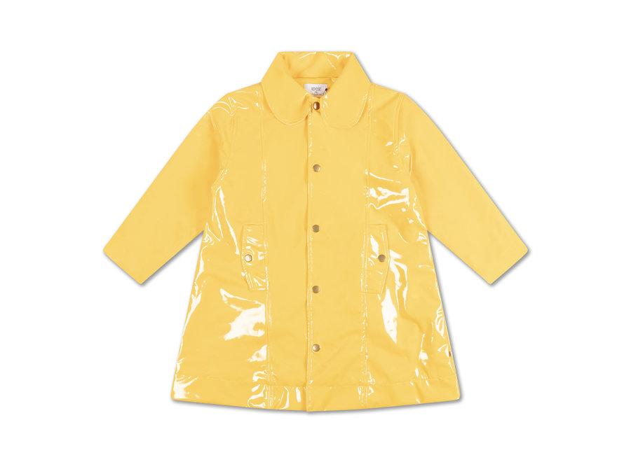 Raincoat warm custard yellow