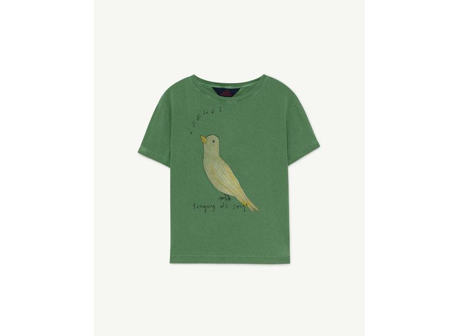 Rooster Kids + T-shirt Green Bird