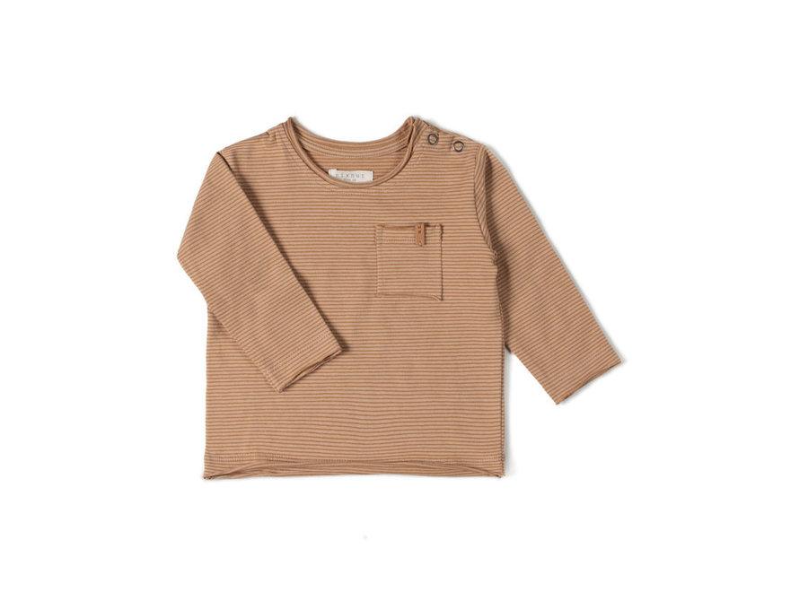 Longsleeve Stripe Nude/Caramel