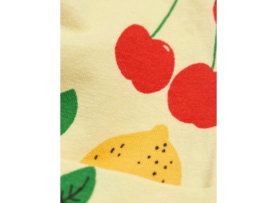 Cherry Lemonade aop Baby Beanie Yellow