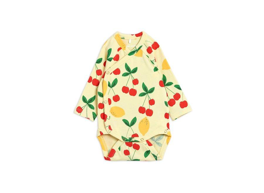 Cherry Lemonade aop Wrap Body Yellow