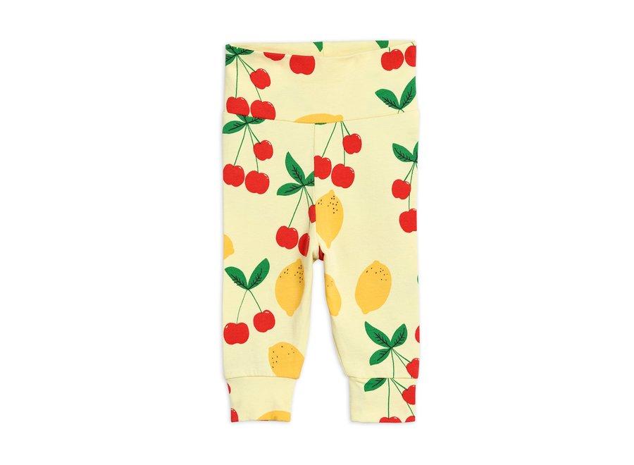 Cherry Lemonade aop newborn Leggings Yellow
