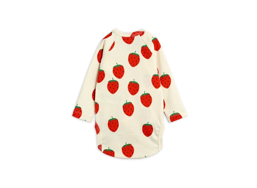 Strawberry aop Wrap Body Off White