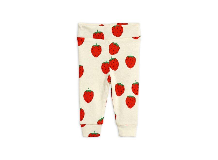 Strawberry aop newborn Leggings Off White