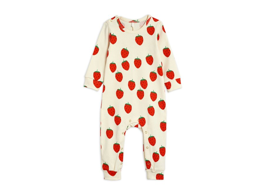 Strawberry aop Jumpsuit Off White