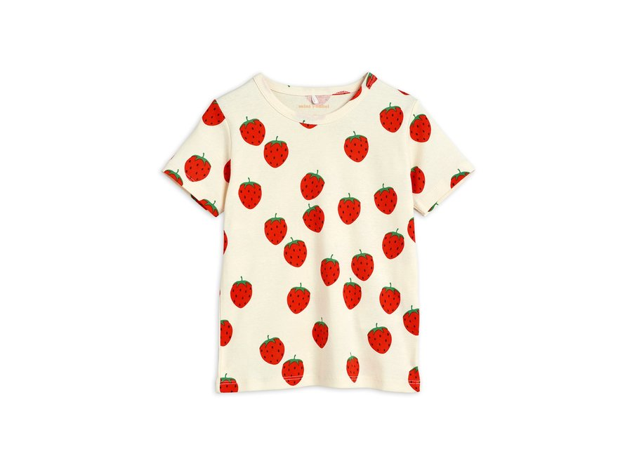 Strawberry aop ss Tee Off White