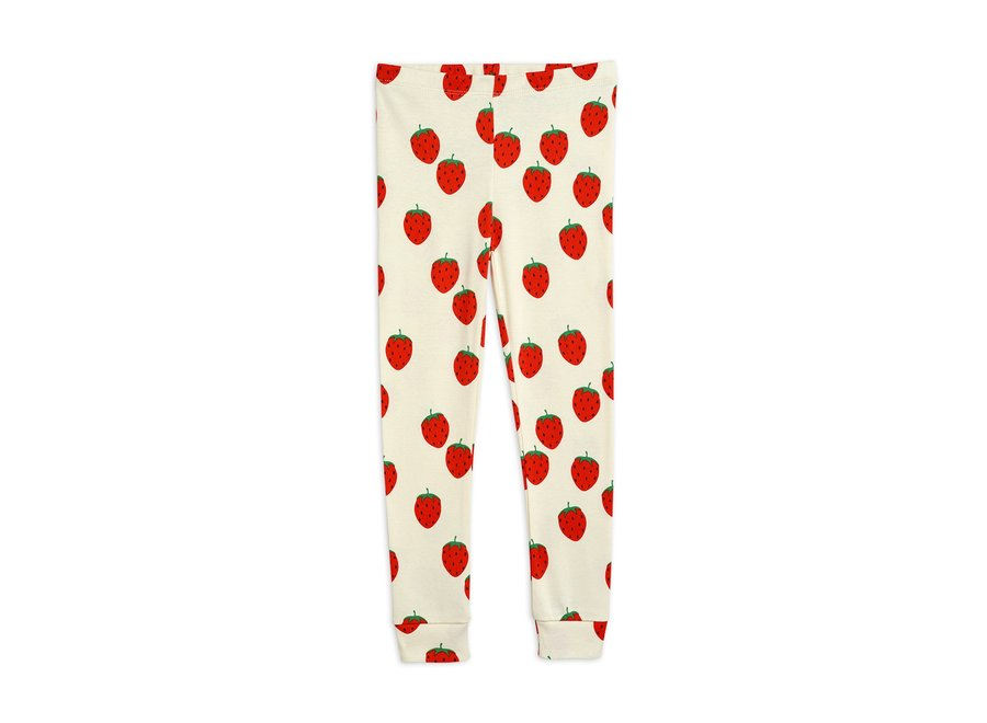 Strawberry aop Leggings Off White