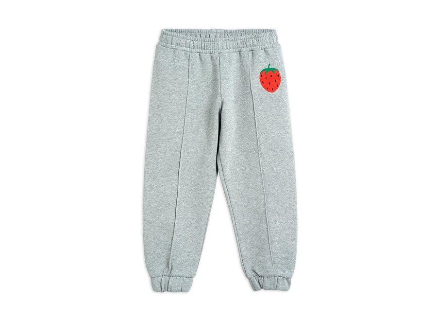 Strawberry emb Sweatpants Grey Melange