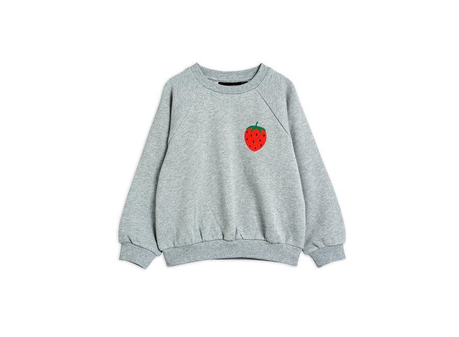Strawberry emb Sweatshirt Grey Melange