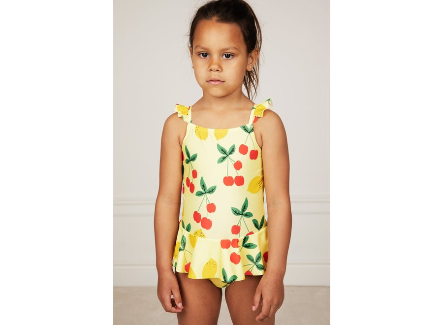 Cherry Lemonade Skirt Swimsuit Yellow