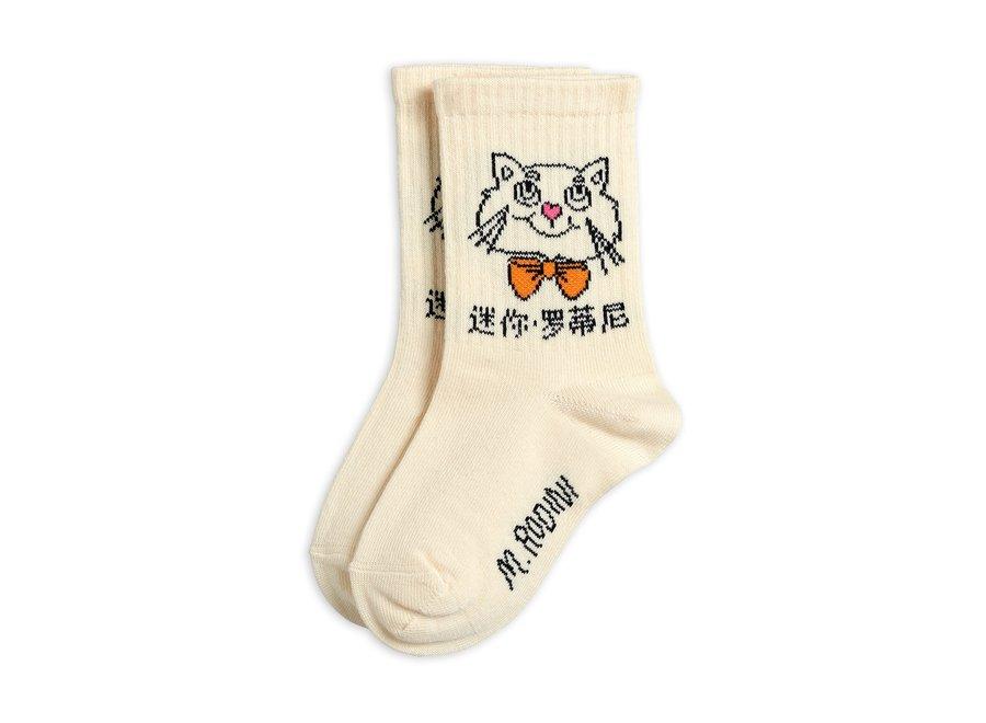Cat Socks Off White