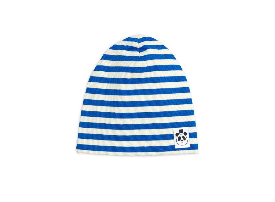Stripe Rib Beanie Blue