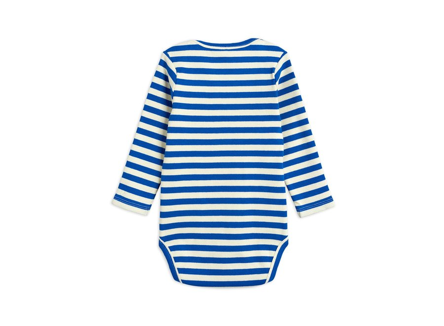 Stripe Rib ls Body Blue