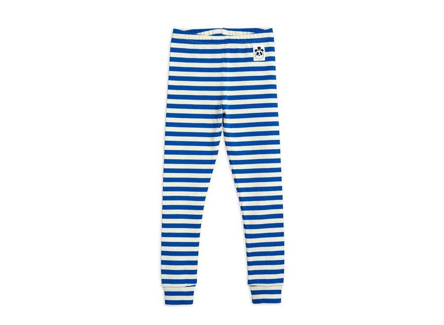 Stripe Rib Leggings Blue