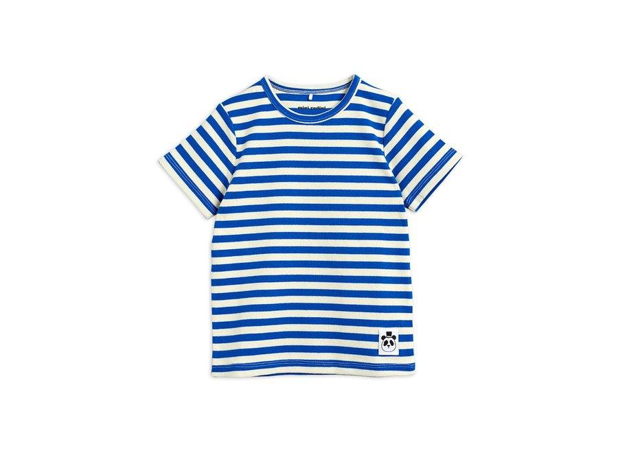 Stripe Rib ss tee Blue