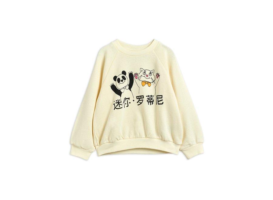 Cat and Panda sweatshirt Off White