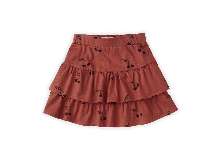 Skirt Ruffle Print Cherry