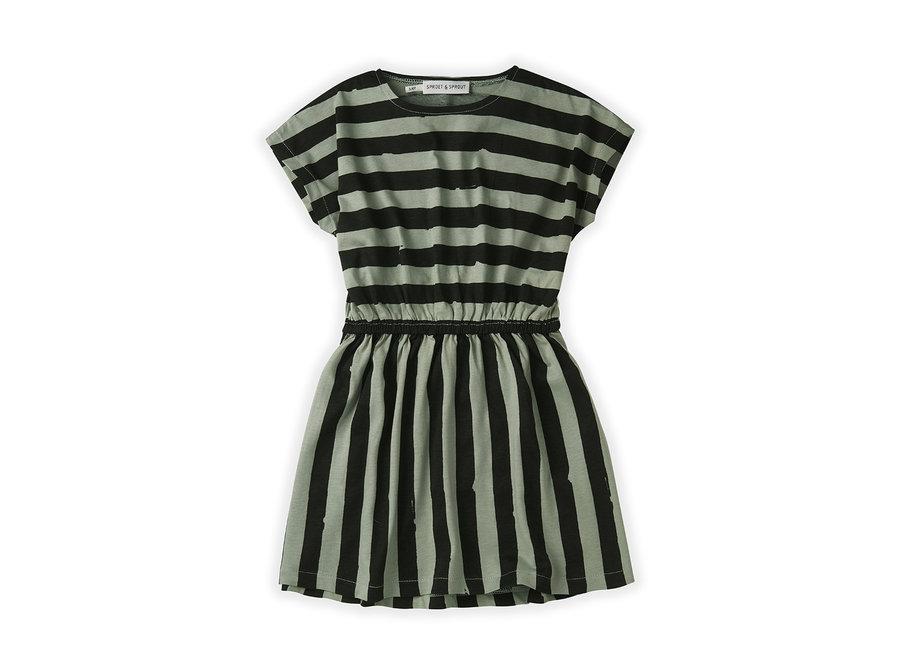 Skater Dress Painted Stripe