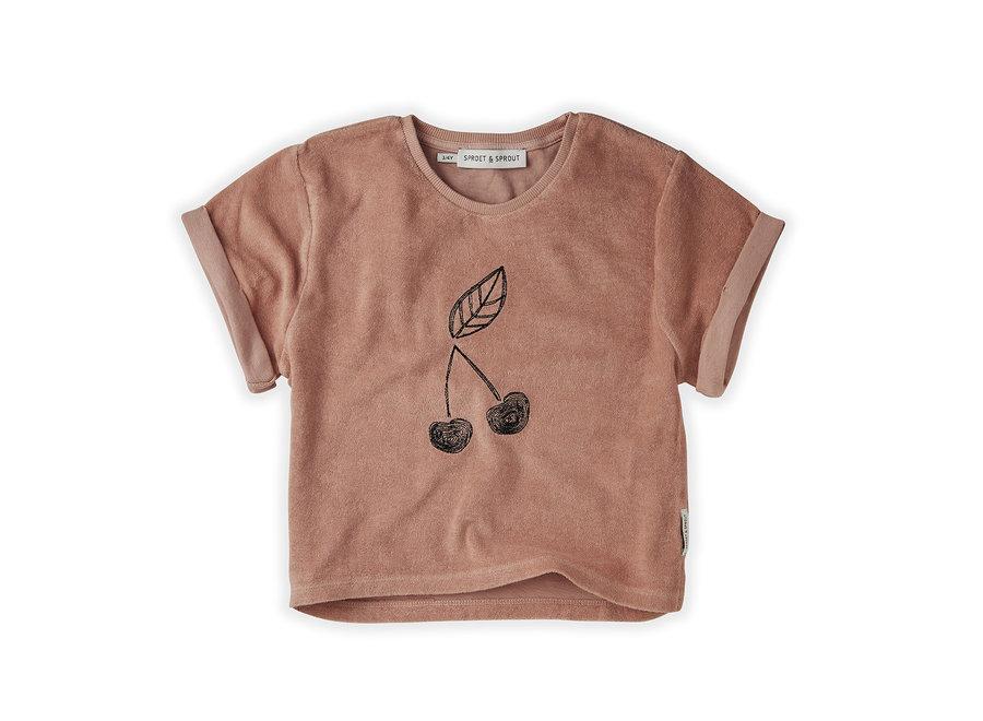Sweat T-shirt Terry Cherry