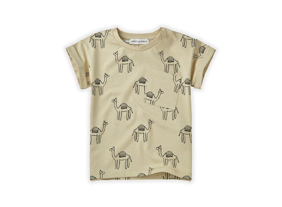 T-shirt Print Camel Sesam