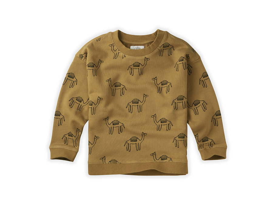 Sweatshirt Print Camel