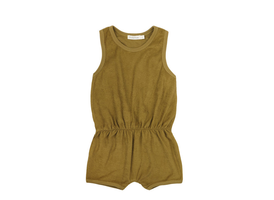 Frotté playsuit Pear