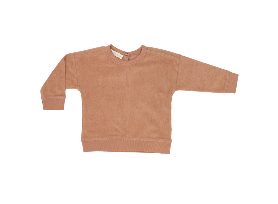 Frotté sweater Warm biscuit