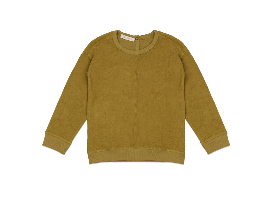 Frotté sweater Pear
