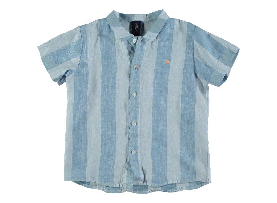 Shirt linen wide stripes