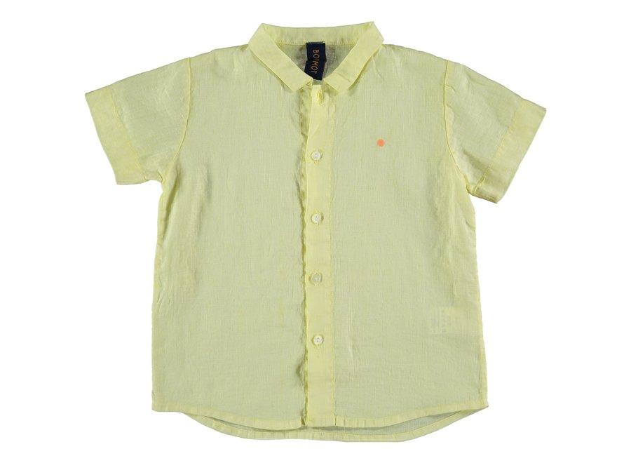 Shirt linen dot