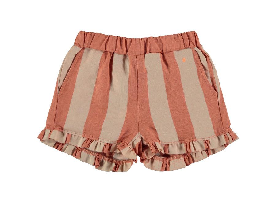 Short frill wide stripe