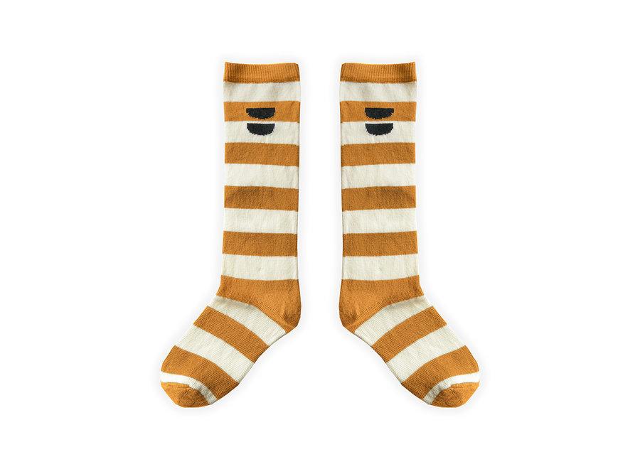High Socks Stripe Desert