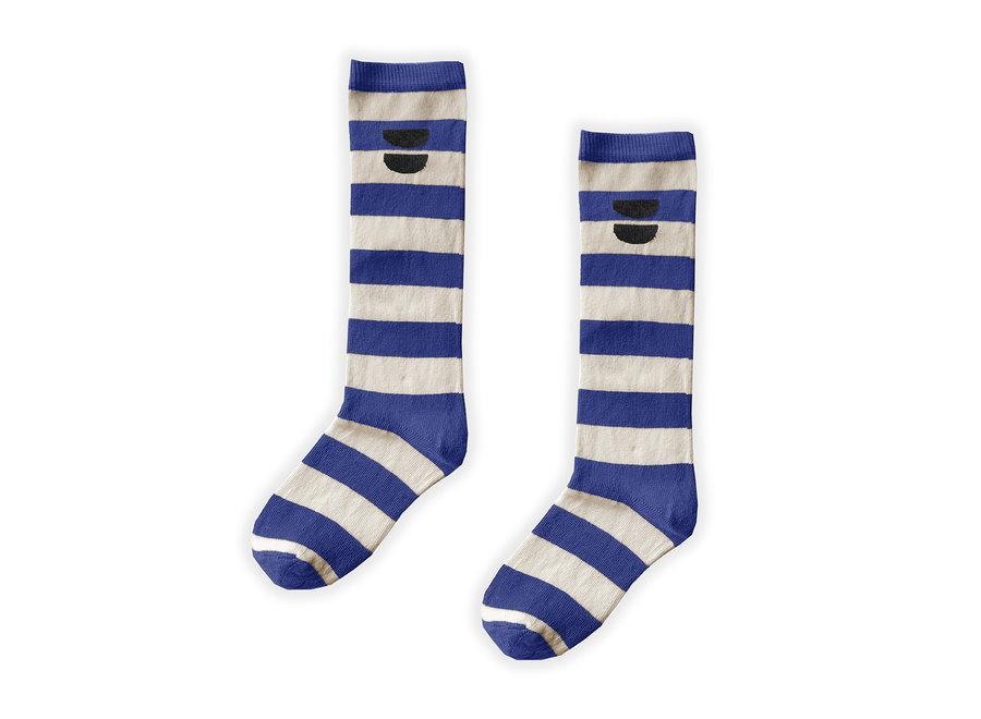 High Sock Stripe Cobalt