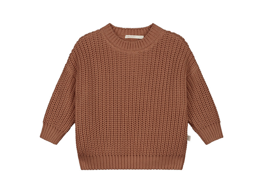 Chunky knitted sweater Brick