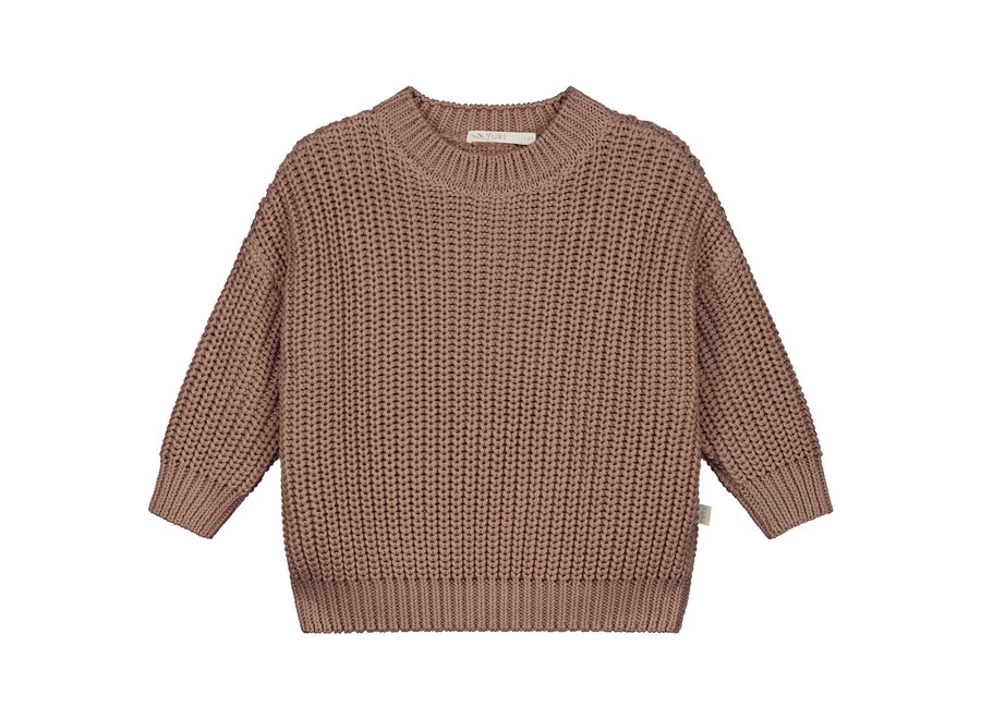 Chunky knitted sweater Mist