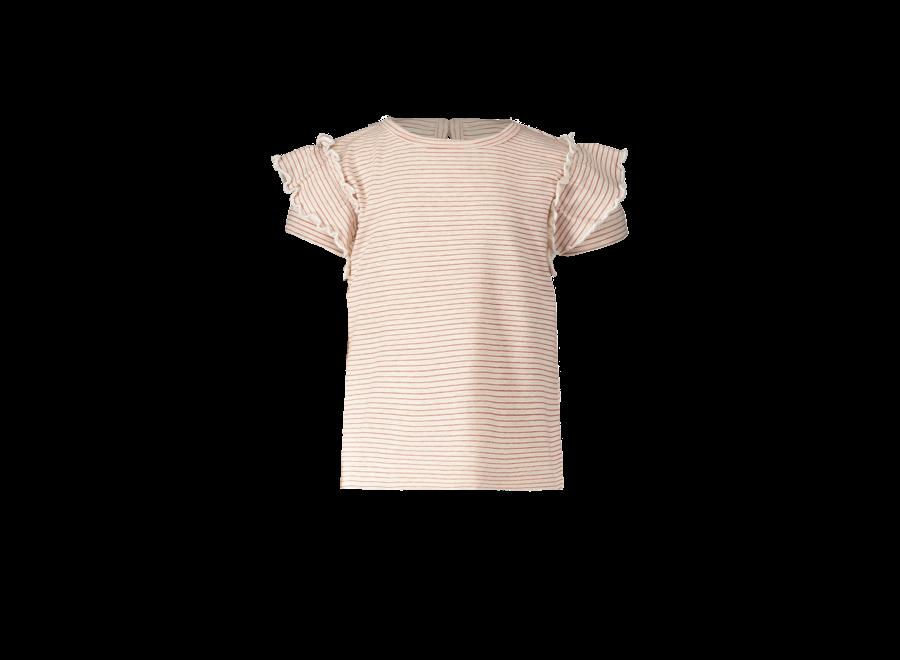 Tee short sleeve ruffle Stripe
