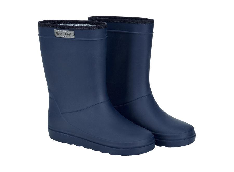 Rubber Rain Boot Blue Night