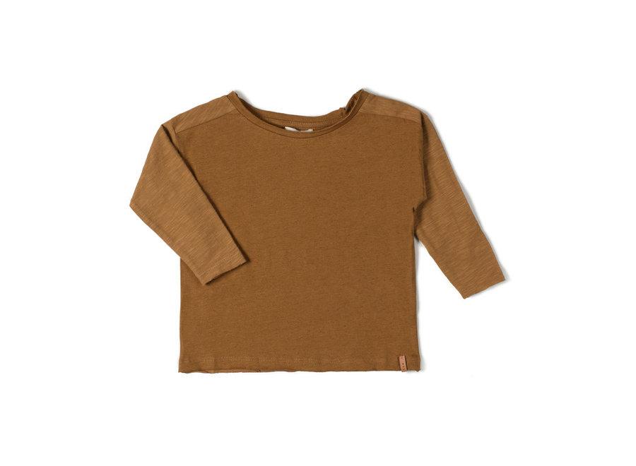Com Longsleeve T-shirt Caramel