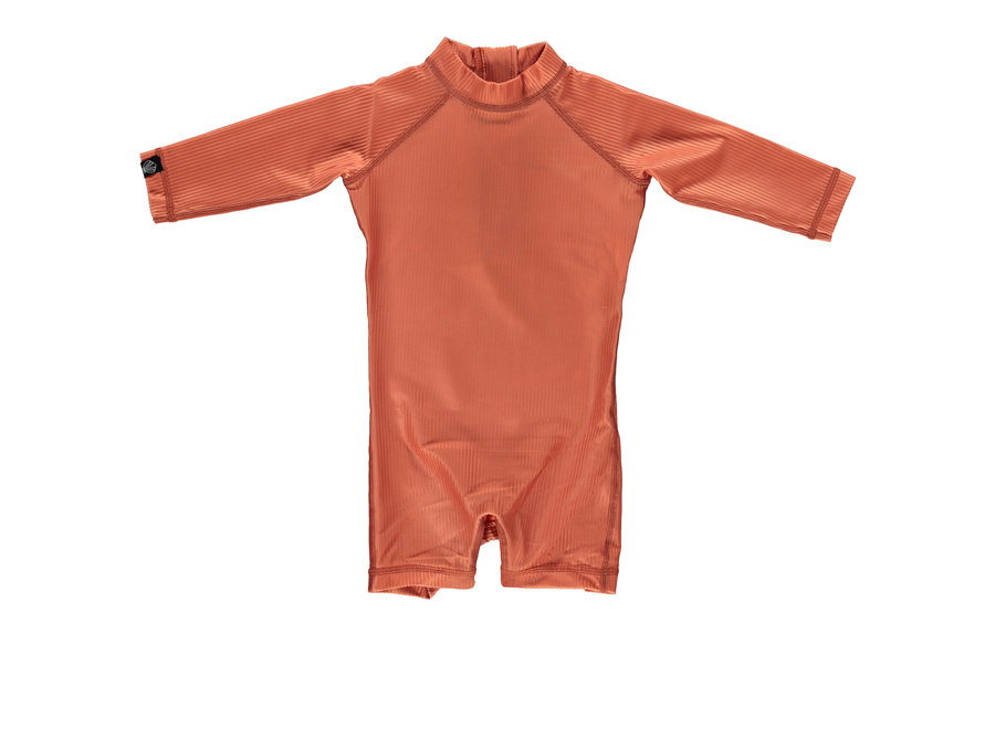 Clay Ribbed Baby suit